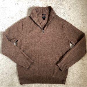 J. Crew Rugged Lambs Wool Half-zip Slim Sweater